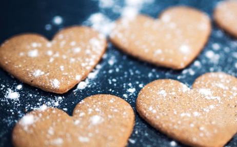 Biscotti burrosi di san valentino